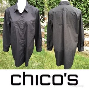 Chico Oversize Black Button Down Shirt